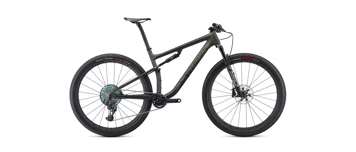 S-Works Epic Carbon 29 XC Specialized 2021 Satin/Gloss Carbon/Color Run Silver - Green Chameleon