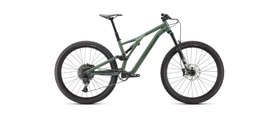Stumpjumper Comp Alloy Specialized 2021 Gloss Sage Green / Forest Green